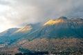 Imbabura inactive stratovolcano otavalo ecuador in northern Stock Photography