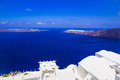 Imerovigli caldera view towards Oia, Santorini, Greece Royalty Free Stock Photo
