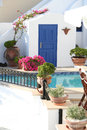 Imerovigli hotel santorini a in the village of in island of in greece Stock Image