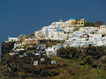 Imerovigli in santorini the village of island of greece Stock Image