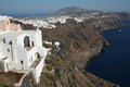 Imerovigli santorini the village of in island of in greece Royalty Free Stock Image