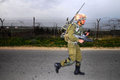 Imi tavor tar netiv haasara isr feb israeli soldier with rifle on feb it s an israeli bullpup assault rifle since it has been the Royalty Free Stock Photography