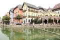 The imitation building of austria hallstatt town style tourism resort style in huizhou guangdong china Stock Images
