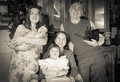 Imitation of vintage photo christmas portrait happy family photographer Royalty Free Stock Image