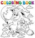 Immagine di halloween del libro da colorare Immagini Stock Libere da Diritti