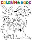 Immagine di halloween del libro da colorare Fotografia Stock Libera da Diritti