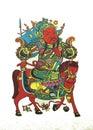Immagini del nuovo anno del portiere del cinese tradizionale Fotografie Stock Libere da Diritti