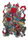 Immagini del nuovo anno del portiere del cinese tradizionale Immagini Stock