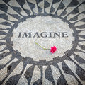 Immagini firmare dentro il central park di new york john lennon memorial Fotografie Stock