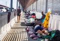 Immigrants at US Mexico border Royalty Free Stock Photo