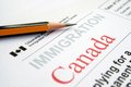 Immigration canada close up of concept Royalty Free Stock Images