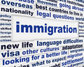 Immigration legal words concept Royalty Free Stock Photo