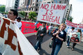 Immigration March: No Human Being is Illegal Royalty Free Stock Photography