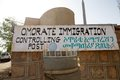 Immigration omorate controlling post ethiopia Stock Photography