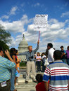 Immigration Opposition Protester Royalty Free Stock Photo