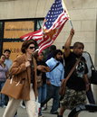 Immigration reform demonstration civil right in chicago thousands of marchers rally across u s may st chicago Royalty Free Stock Photo