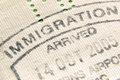 Immigration stamp Royalty Free Stock Photo