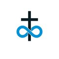 Immortal God conceptual symbol combined with infinity loop sign