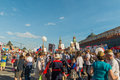 Immortal regiment in moscow russia may marches on celebrates th victory day anniversary on may Stock Photo