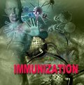 Immunity against diseases human immune system attack the virus made in d software Stock Image