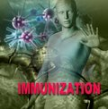 Immunity against diseases human immune system attack the virus made in d software Royalty Free Stock Image
