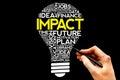 Impact bulb word cloud business concept Stock Photos