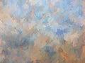 Impasto Blue and Tan Background Texture Royalty Free Stock Photo