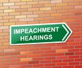 Impeachment Hearings To Impeach Corrupt President Or Politician Royalty Free Stock Photo