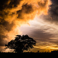 Impending storm approaching after sunset while traveling in mauritius island Royalty Free Stock Photography