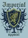 Imperial apparel heraldic logo vector format Stock Photo