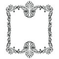 Imperial Baroque Mirror frame. Vector French Luxury rich intricate ornaments and crystals. Victorian Royal Style decor