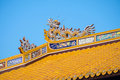 Imperial city hue detail of noon gate ngo mon the main gate to the thua thien province vietnam Royalty Free Stock Images