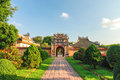 Imperial city hue vietnam historic building built from is a walled fortress and palace in the of is situated on the northern bank Royalty Free Stock Photos