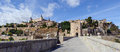 Imperial city view of the of toledo as seen from alcantara bridge spain Royalty Free Stock Photography