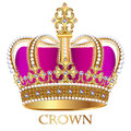 imperial crown with jewels on a white background Royalty Free Stock Photo
