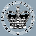 Imperial crown the state stylized illustration Royalty Free Stock Images