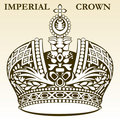 Imperial crown white Royalty Free Stock Photo