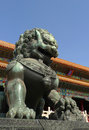 An imperial guardian lion the Forbidden City Royalty Free Stock Images