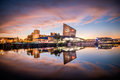 Imperial war museum manchester november on the banks of canal in salfaord quays Royalty Free Stock Images