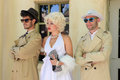 Impersonator marylin monroe and boys barcelona spain june in barselona spain june was an american pop icon of x actress Stock Image