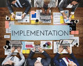 Implementation Accomplish Installing Perform Concept Royalty Free Stock Photo
