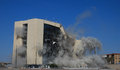 Implosion el paso texas – april city hall was imploded on sunday morning before a large crowd making way for the new aaa Royalty Free Stock Photo