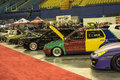 Import cars montreal october picture of different car in display during the autorama event Royalty Free Stock Image