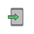Import, enter filled outline icon, vector sign
