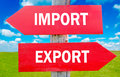 Import or export Royalty Free Stock Photo