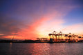 Import and export trade of port transport logistics
