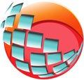 Modern data center logo icon vector