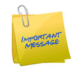 Important messages concept on a post it illustration design Stock Photography