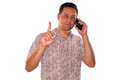 Important phone call Royalty Free Stock Photo