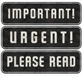 Important Stamp Urgent Please Read Signs Set Grunge Royalty Free Stock Photo